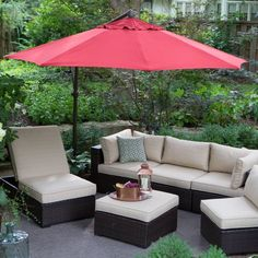 Treasure Garden 10 ft. Obravia Cantilever Octagon Offset Patio Umbrella Obravia Chocolate - AG19-00-4827