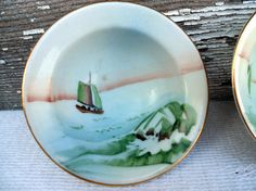 Hand Painted Nippon 6 Teacups Small painting