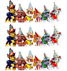 Paw Patrol Cake Strips Edible Cake Decoration por RobinBlues