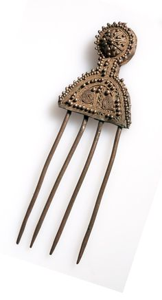 Ethiopia | Hairpin from the Amhara people; silver | ca. 1967 or earlier