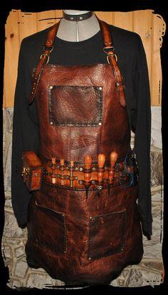 steampunk leather MXS  apron by Lagueuse.deviantart.com on @deviantART