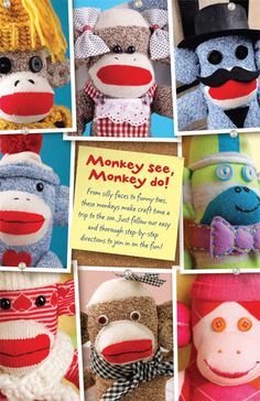 From silly faces to funy toes, these monkeys make craft time a trip to the zoo. Just follow our easy and through step-by-step directions to join in on the fun!