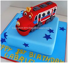 Wilson from Chuggington birthday cake, exclusively designd by EliteCakeDesigns Sydney. Visit our exclusive Birthday Cake design gallery to witness the quality of our cake designs. Birthday Cakes Sydney, Birthday Cakes For Teens, Cupcake Birthday Cake, 2nd Birthday Parties, Boy Birthday, Birthday Ideas, Third Birthday, Chuggington Cake, Chuggington Birthday
