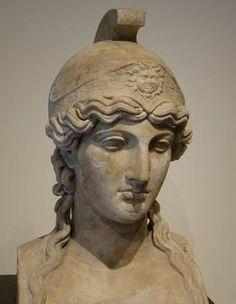 Herm of Athena (marble) Found in Herculaneum, villa of papyrii