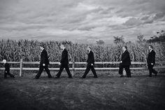 men walk