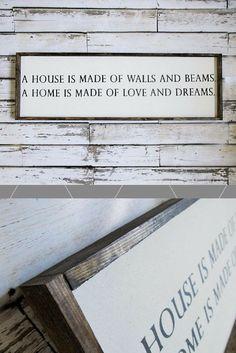 Warm words & a farmhouse touch! Add to my gallery wall! #walls #farmhouse #decor #art #rustic #gallerywall #etsy #ad