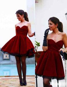 2016 homecoming dresses,homecoming dresses,maroon homecoming dresses,sweetheart homecoming dresses,short prom dresses,cheap homecoming dresses under 100$