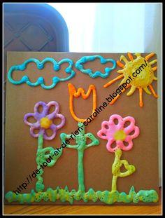 De tout et de rien: Activités pour le Préscolaire: DIY puffy paint recipe for microwave - Recette de peinture bouffie (ou peinture qui gonfle) pour le micro-ondes