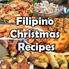 Here are the Filipino Christmas Recipes usually served during the Filipino Noche. - Here are the Filipino Christmas Recipes usually served during the Filipino Noche Buena feast. Filipino Appetizers, Filipino Desserts, Filipino Food Party, Easy Filipino Recipes, Lumpia Recipe Filipino, Pinoy Food Filipino Dishes, Pinoy Recipe, Simple Recipes, Filipino Christmas Recipes