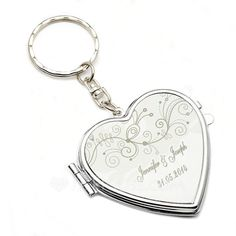 Personalized Summer Breeze Stainless Steel Keychains/Compact Mirror (118051250)