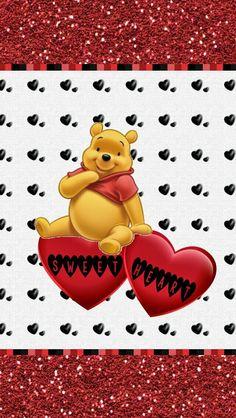 ♡♡Dazzle my Droid: Winnie the Pooh Wallpaper collection part Winnie The Pooh Cartoon, Winne The Pooh, Winnie The Pooh Quotes, Eeyore, Tigger, Hate Valentines Day, Disney Frames, Bear Wallpaper, Cute Disney Wallpaper