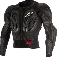 Alpinestars Bionic: Shoulder and elbow protectors are CE-certified against EN 1621-1:2012 level 1. Back protector is certified against EN1621-2014 level 1. Divided chest protector is CE-certified against EN1621-3 :2016 level 3.