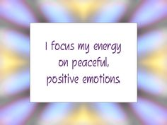 Daily Affirmation for September 3, 2013