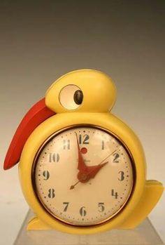Bakelite Quacker clock by Belle Kogan