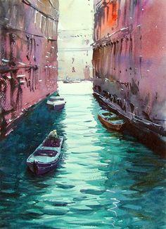 Venice Canal 5 by Tim Wilmot