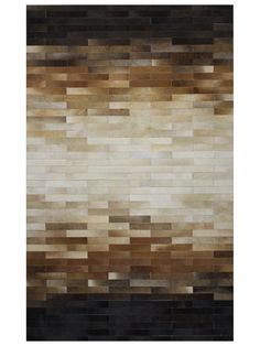 Ombre Cowhide Hand-Stitched Rug by Bashian Rugs