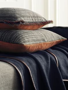 Made from our finest fabrics including details such as fringing, hand stitching or leather trims de Le Cuona Cushions and Throws create the perfect ambience.