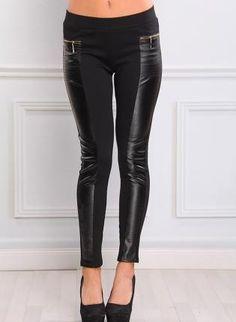 black leggings #liquidleggings #fauxleather