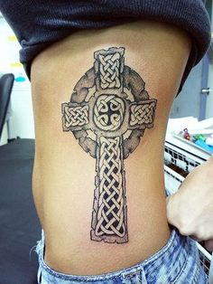 40 Mysterious Cross Tattoo Designs - Characteristic Symbol Check more at http://tattoo-journal.com/30-best-images-of-celtic-cross-tattoo/