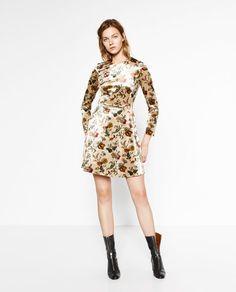 Image 6 of PRINTED VELVET DRESS from Zara