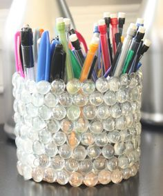 recycled soda bottle pencil holder, crafts, diy, repurposing upcycling