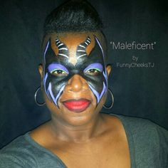Maleficent mask  but maybe with more green