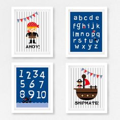Pirate and princesess by Kay Forsyth on Etsy