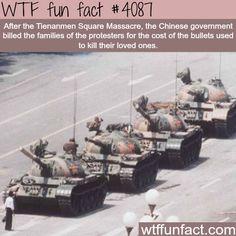 Tienanmen Square Massacre facts - WTF fun facts