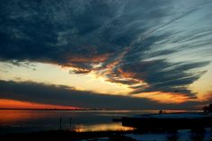Sunset over Bogue Sound and ICW in Carteret County, NC