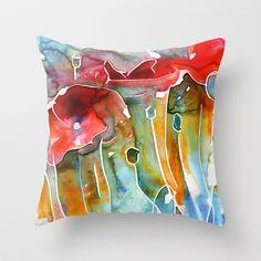 Poppy+Field+Throw+Pillow+by+Yevgenia+Watts+-+$20.00