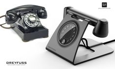 Dreyfuss Retro-Futurist Concept is an iconic telephone with its classic style and its modern materials. This unique telephone is also designed in modern forms Futuristic Phones, Retro Futuristic, Human Centered Design, Retro Phone, Retro Photography, Yanko Design, Design Language, Modern Materials, Automotive Design