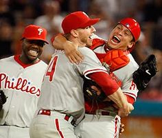 Halladay's perfect game. Who's happier, him or Chooch?