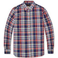 Beams Plus Madras Shirt (Navy & Red)