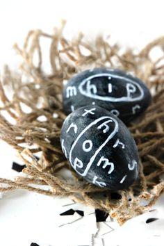 Jute Twine Nest and Chalkboard Eggs