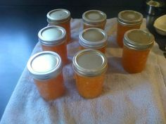 Pineapple Habanero Jelly// over cream cheese and served with crackers or as a sandwich spread Pineapple Habanero Jelly Recipe, Habenero Jelly, Pepper Jelly Recipes, Hot Pepper Jelly, Jam Recipes, Canning Recipes, Canning Jars, Drink Recipes, Mason Jars