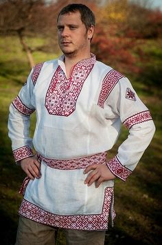 Одежда ручной работы. Ярмарка Мастеров - ручная работа Рубаха РОДИМИЧ-2. Handmade.