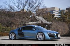 Audi R8 on M-119 Brushed Finish by Lexani Wheels. Click to view more photos and mod info.