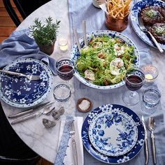 French Blue Bouquet Dinnerware Collection | Williams-Sonoma