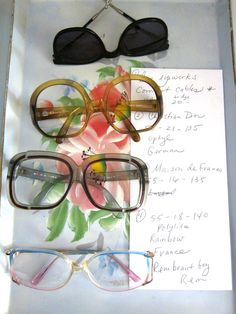 d704c05dd10 Vintage NOS Eyeglass Frames Glasses New Old Stock Oversized Glasses