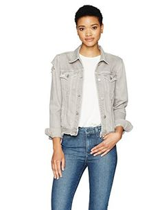 Denim jacket with major personality. Features a pale grey wash and heavy distressing throughout. Finished with silver six-button center closure, two flap pockets at chest, and side slit pockets. Made of 100 percent cotton for a true denim feel.       Famous Words of...  More details at https://jackets-lovers.bestselleroutlets.com/ladies-coats-jackets-vests/denim-jackets/product-review-for-j-brand-jeans-womens-slim-denim-jacket/