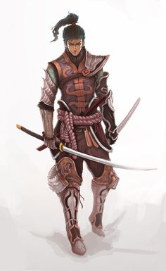 Fantastical Eastern Male Samurai
