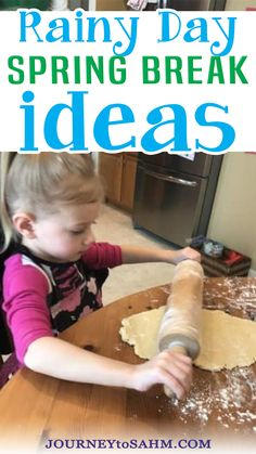 Spring break can get stressful. The kids are all home for a week. The weather is getting warmer, so you want them outside, but then it rains. So what can you do with a toddler on a rainy day? It seems like toddlers and preschoolers get bored within minutes of the same thing and need constant attention. Here are 30 spring break ideas for a rainy day to make that week at home much more memorable and entertaining. | @journeytoSAHM #springbreakfortoddlers