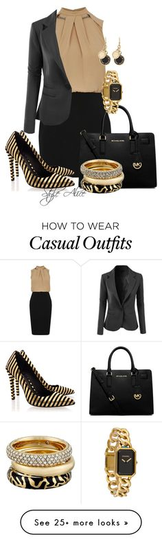 Casual by alice-fortuna on Polyvore featuring Oasis, LE3NO, MICHAEL Michael Kors, Rachel Zoe, Michael Kors, Marc by Marc Jacobs and Chanel