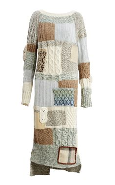 Patchwork Knit Dress by TUINCH for Preorder on Moda Operandi