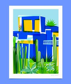 Illustrations, Graphic Illustration, Man Made Environment, Urban Sketching, Art Inspo, New Art, Art Boards, Blue Walls, Print Patterns