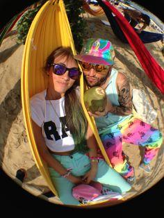 ☀️At the End of The Rainbow. I Found Her.  . ❤️my #oneandonly #treasure @Valencia Gein  #tbt #nofilter #truecolors #breadandbutter #berlin #rad #fashionweek #80sstyle #fisheye #rainbowfish  (presso Flughafen Berlin Tempelhof)