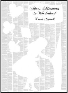 Alice's Adventures in Wonderland - Spineless Classics that you can hang in your home as art.