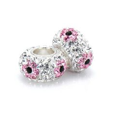Set of 2 - Bella Fascini White Clear & Pink Spring Flower Pave Bling Beads - Made with Authentic Swarovski Crystal Elements - Solid Sterling Silver Core Fits Perfectly on Chamilia Moress Pandora and Compatible Brands Bella Fascini Beads,http://www.amazon.com/dp/B0070F04EK/ref=cm_sw_r_pi_dp_K4iltb0DWTAF9WKG