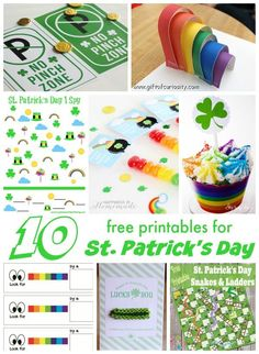 Free printables for St. Patrick's Day. Games, activities, and party ideas for kids!