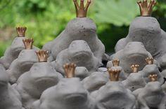 gjuta betong inspiration hantverk dekorationer grodor prins krona